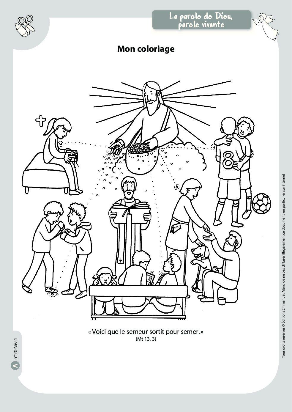 Mon Coloriage Catechisme Emmanuel